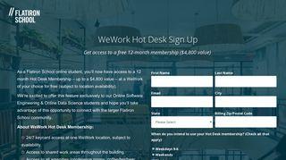WeWork Hot Desk Sign Up | Flatiron School