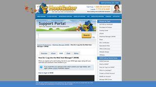 How Do I Log into the Web Host Manager? (WHM) « HostGator.com ...