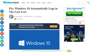 Fix: Windows 10 Automatically Logs in The Last User - Windows Report