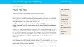 Azure AD Join - Azure Active Directory | Guide and Walkthrough