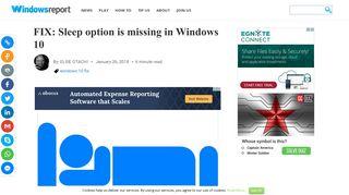 FIX: Sleep option is missing in Windows 10 - Windows Report