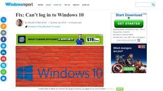 Fix: Can't log in to Windows 10 - Windows Report
