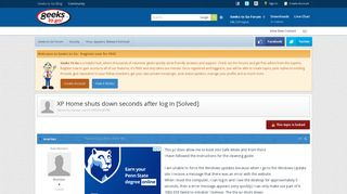 XP Home shuts down seconds after log in [Solved] - Virus, Spyware ...