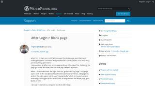 Admin page blank login wordpress 4. WordPress