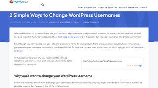 2 Simple Ways to Change WordPress Usernames - Step by Step