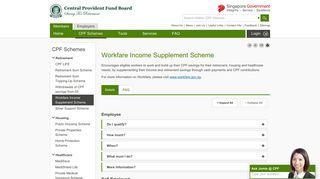 Workfare Income Supplement Scheme - CPF