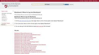 Blackboard: Where to log into Blackboard - WSU KnowledgeBase
