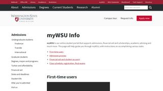 myWSU Info - Student Affairs - WSU Vancouver