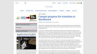 Campus prepares for transition to Blackboard - The VanCougar