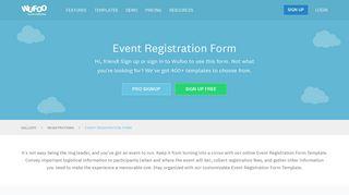 Event Registration Form | Wufoo