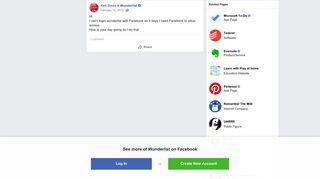 Ken Davis - Hi I can't login wunderlist with Facebook as... | Facebook