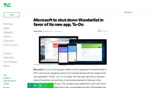 Microsoft to shut down Wunderlist in favor of its new app, To-Do ...