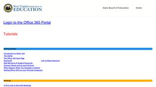 Office 365 - West Virginia Department of Education