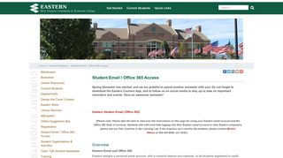 Student Email / Office 365 Access | Eastern WV Community ...