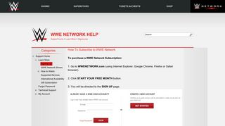 Sign up network wwe Be aware