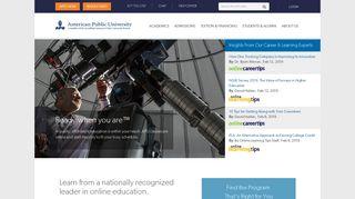 American Public University   Online Degrees & Certificates   877-755 ...