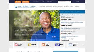 American Military University   Online Degrees & Certificates   877-755 ...