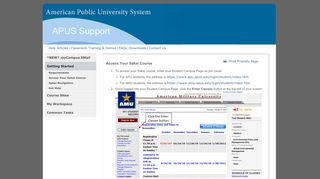 Access Your Sakai Course - American Public University System