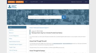 MyCampus Email: Using Your University-Provided Email Address