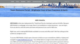 ABS Mobile - Team Resource Portal - Brightstar Care of San Francisco ...