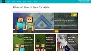 Minecraft   Code.org