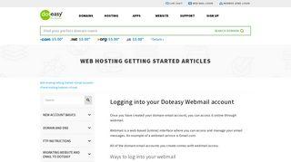 Logging into your Doteasy Webmail account - Doteasy.com