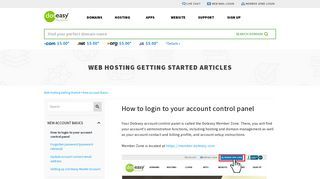 How to login to your account control panel - Doteasy.com
