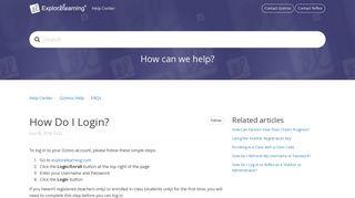 How Do I Login? – Help Center