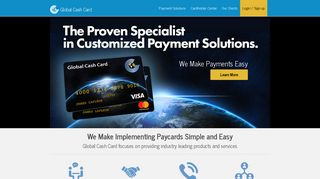 Global Cash Card - The Leader in Custom Paycard Solutions