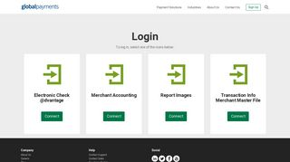 Login: Merchant Accounting & Transaction Info   Global Payments