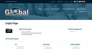 Login Page   Global Student Network