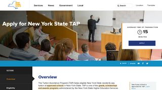 Apply for New York State TAP | The State of New York - NY.gov