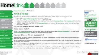 Login and bidding - Nottingham HomeLink