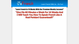 Learn French in 16 Weeks - JeFrench