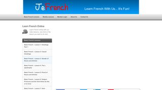 Learn French Online - Free French Lessons - JeFrench
