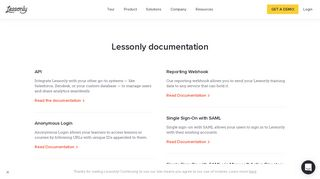 Lessonly Documentation - Lessonly