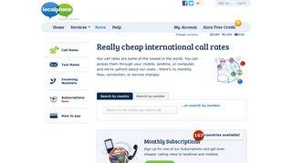 Cheap International Call Rates | Localphone