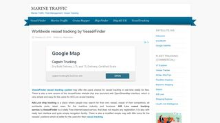 Marine Traffic - Vessel Finder - Worldwide Vessel Tracking