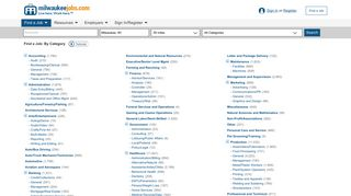 Find a Job: By Category - Milwaukee Jobs