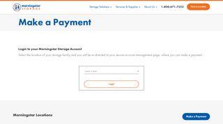 Make a Payment Online   Morningstar Storage