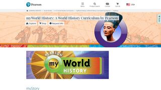 Social Studies Programs | Pearson | myWorld History: A World History ...