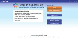 Login - Pearson SuccessNet