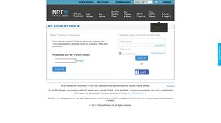 my account sign in - Net10