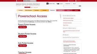 Your Powerschool Portal for Mount Olive Schools
