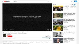 Resume Rabbit Alternative - Resume Cheetah - YouTube