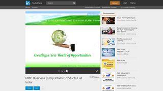 RMP Business   Rmp Infotec Products List India - SlideShare