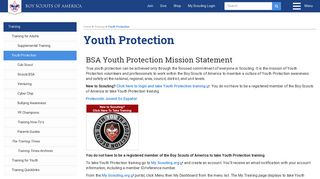 Youth Protection - Boy Scouts of America