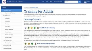 Training for Adults - Boy Scouts of America