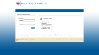 My Scouting - Boy Scouts of America - MyScouting.org