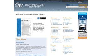 SEG Digital Library (Society of Exploration Geophysicists)
